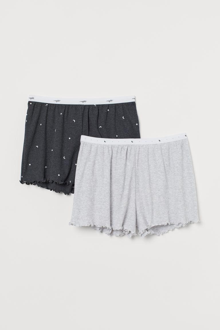 2-pack Ribbed Pajama Shorts