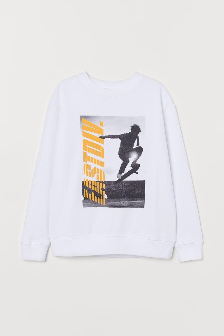 Sweatshirt with Printed Design