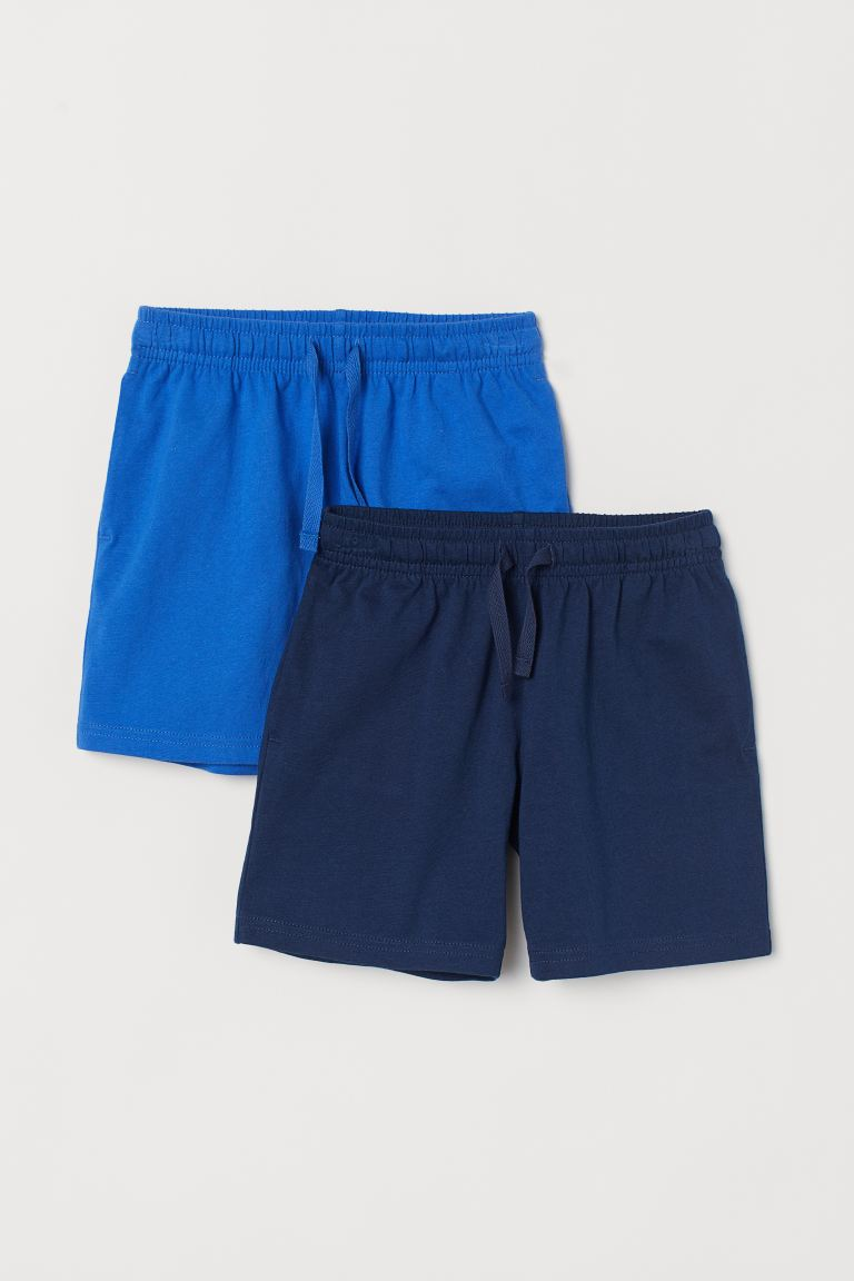 2-pack jersey shorts - Blue/Dark blue - Kids | H&M GB