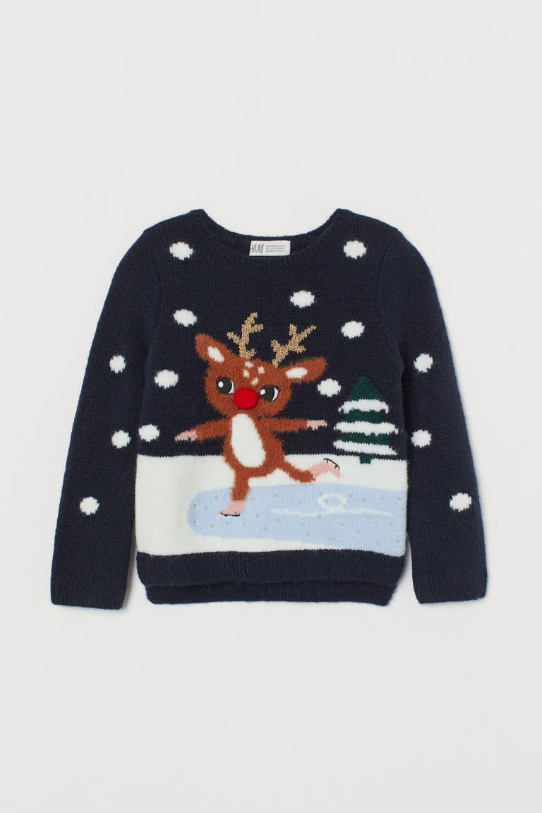 Knit Sweater with Appliqué
