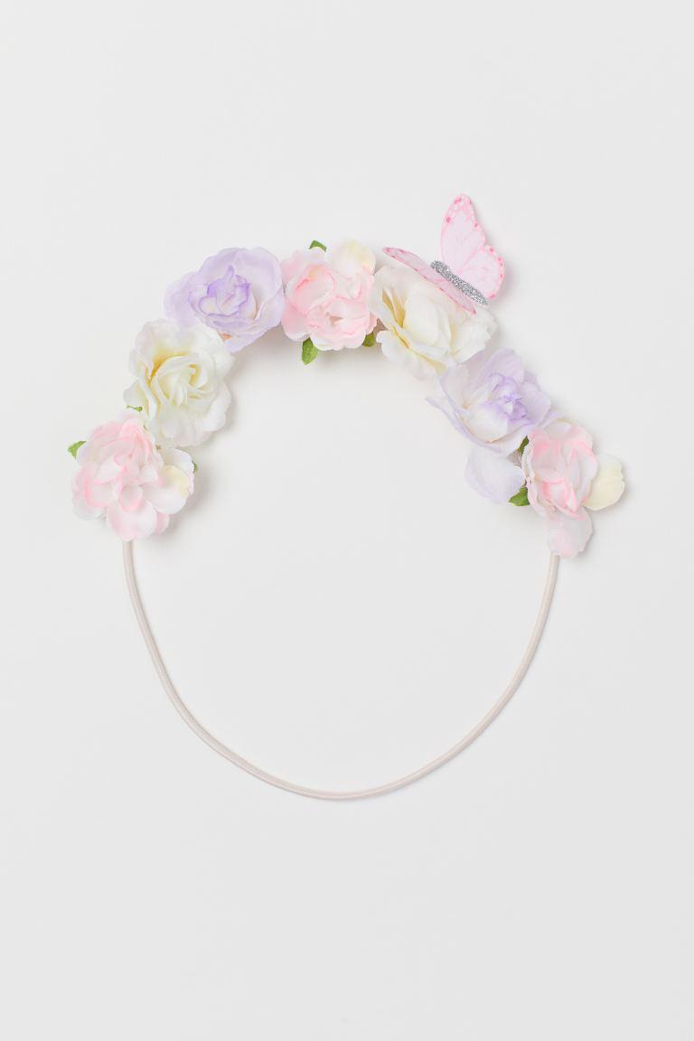 Flower-embellished Headband