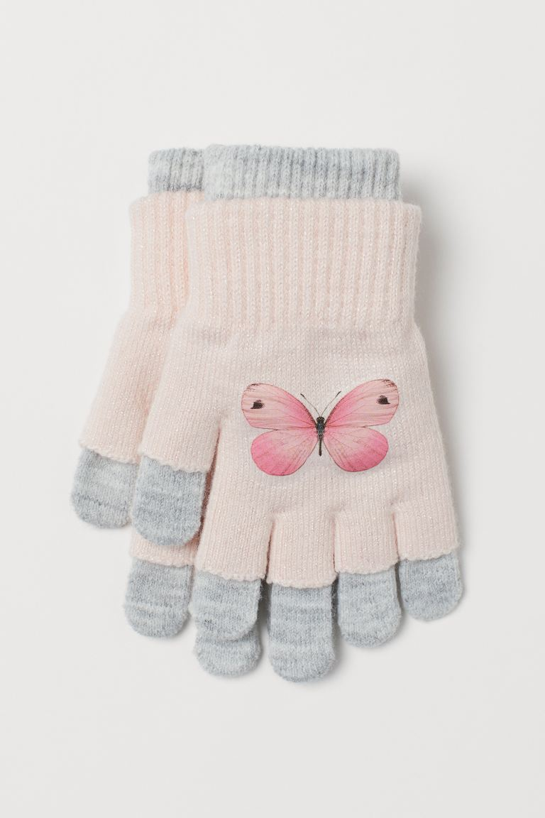 Gloves/fingerless gloves - Light pink/Butterfly - Kids | H&M GB