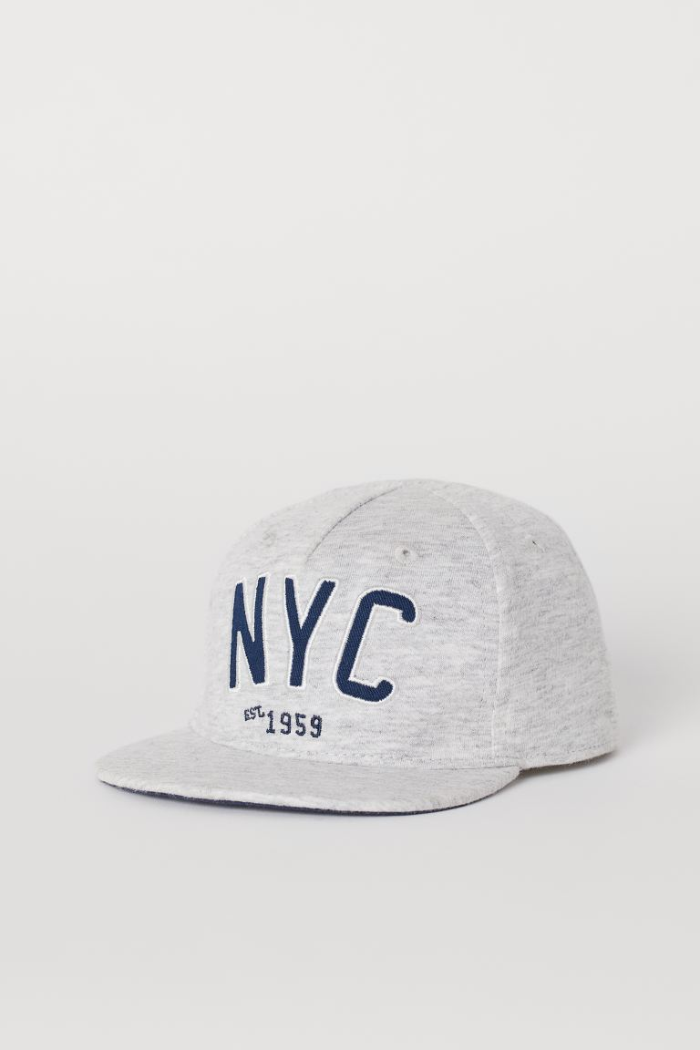 Cotton cap - Grey marl/NYC - Kids | H&M GB