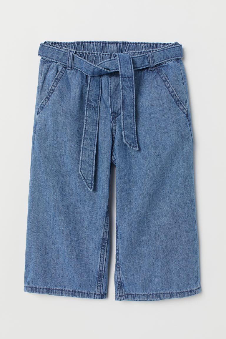 Denim culottes - Denim blue - Kids | H&M GB