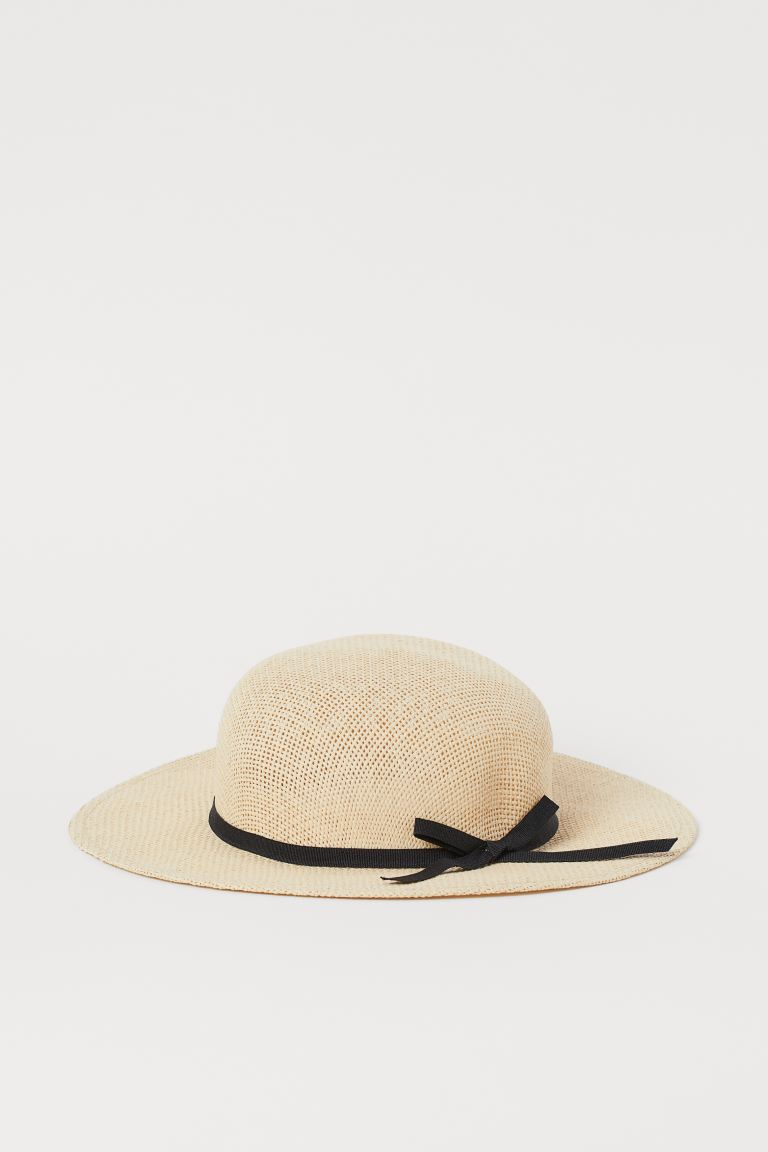 Bow-detail Straw Hat