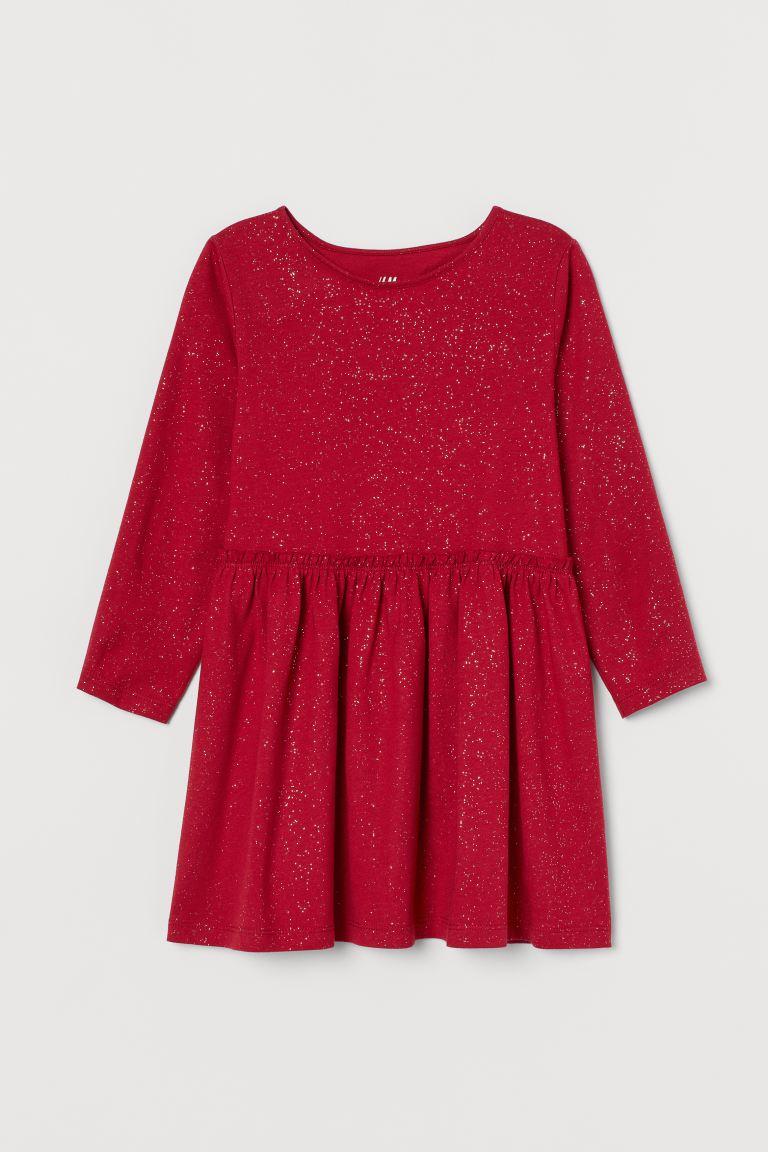 Glittery Jersey Dress