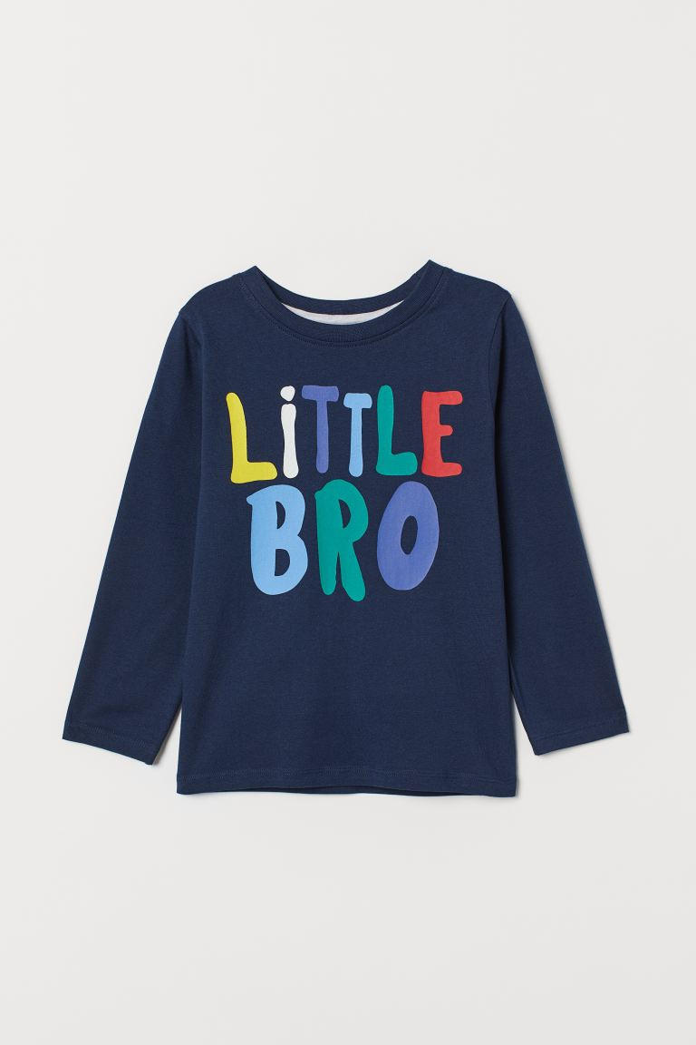 Sibling top - Dark blue/Little Bro -  | H&M GB