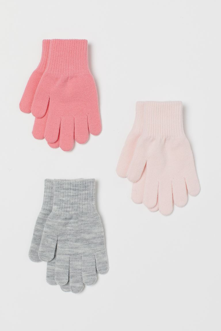 3-pack gloves - Light pink -  | H&M GB