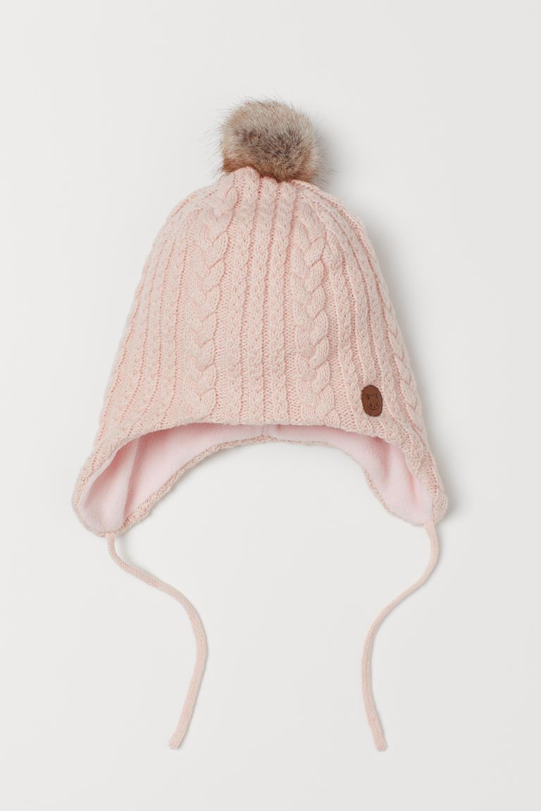 Fleece-lined hat - Powder pink - Kids | H&M GB