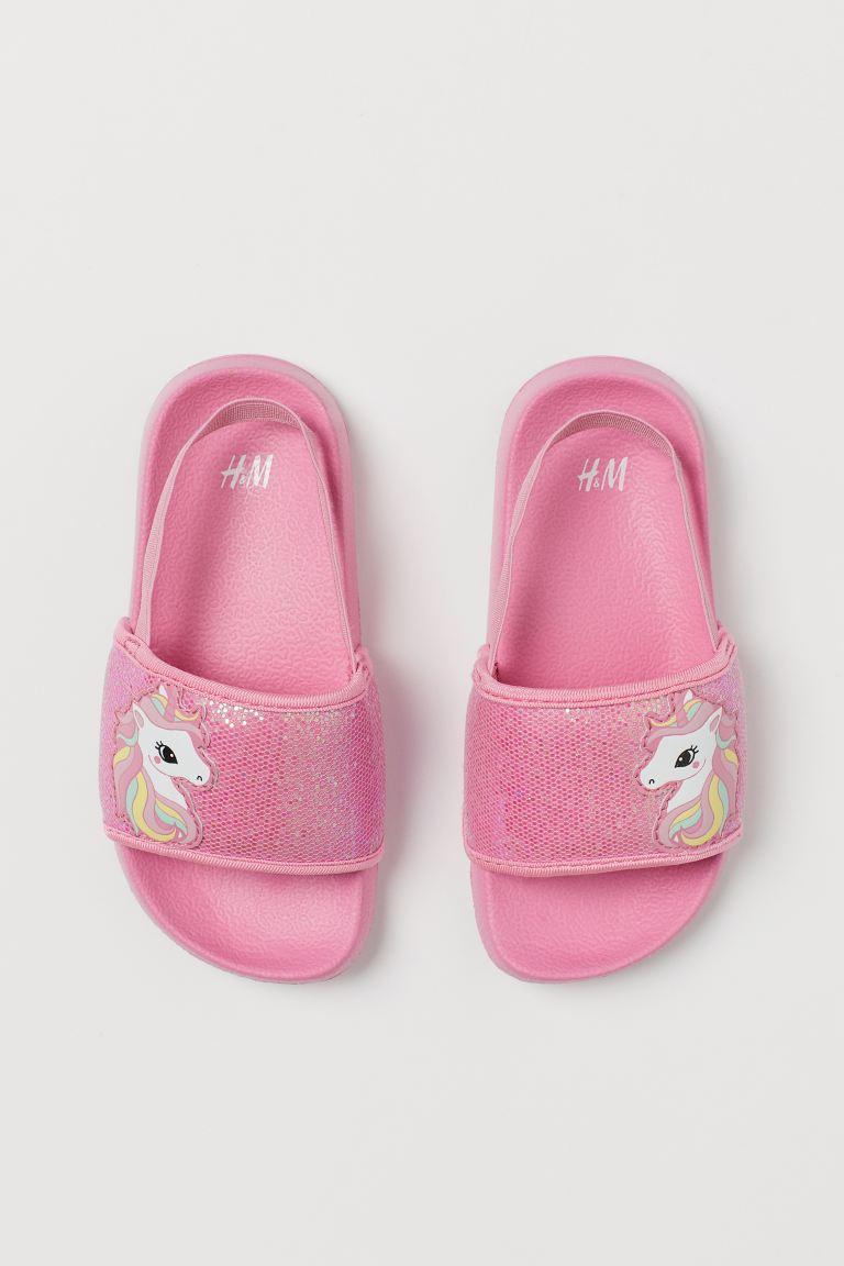 Glittery Pool Shoes