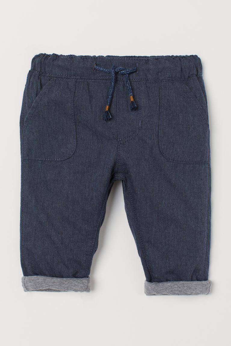Lined Cotton Pants