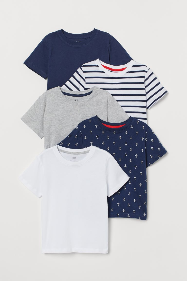 5-pack Cotton T-shirts