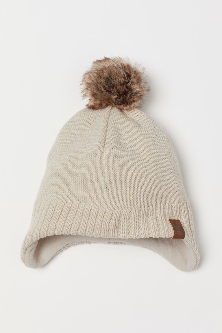 Fleece-lined hat - Beige - Kids | H&M GB