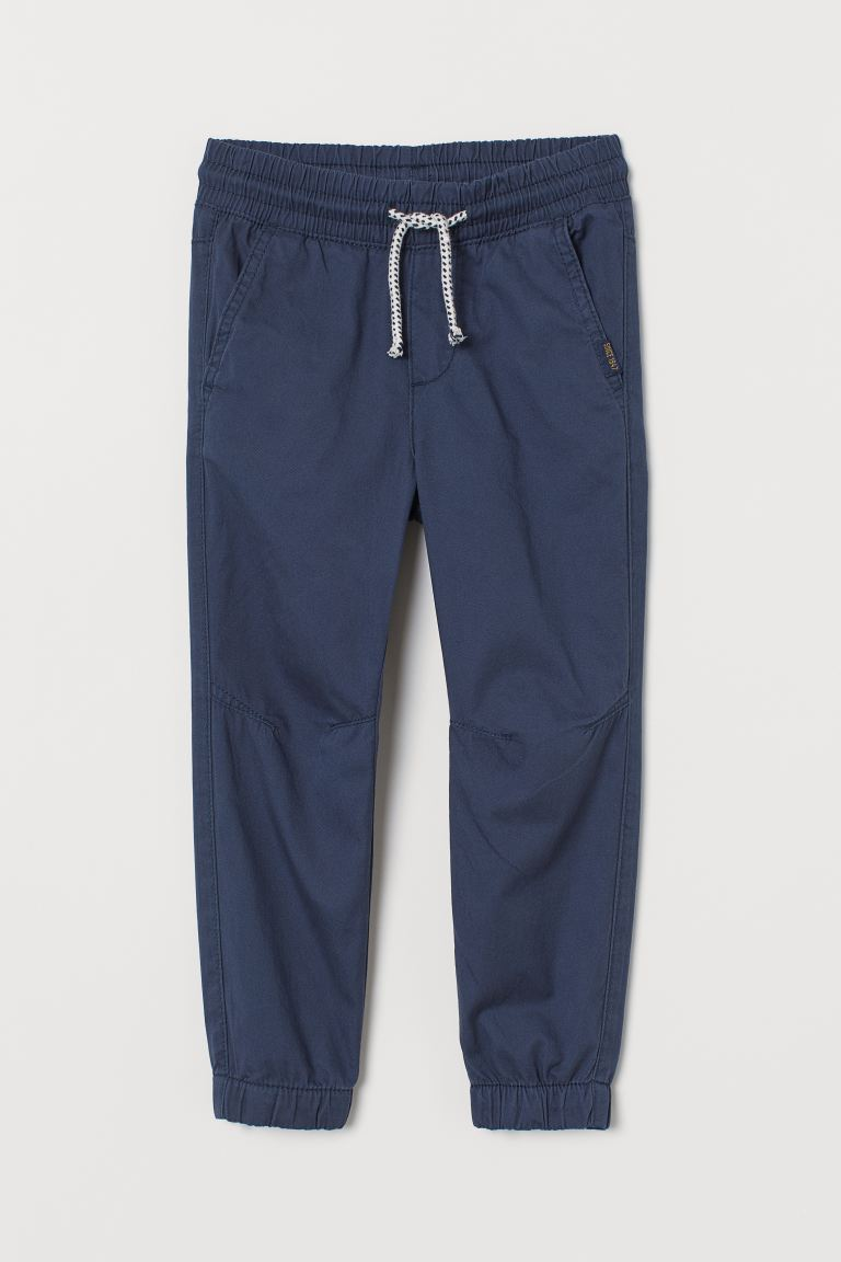 Cotton pull-on trousers - Navy blue - Kids | H&M GB