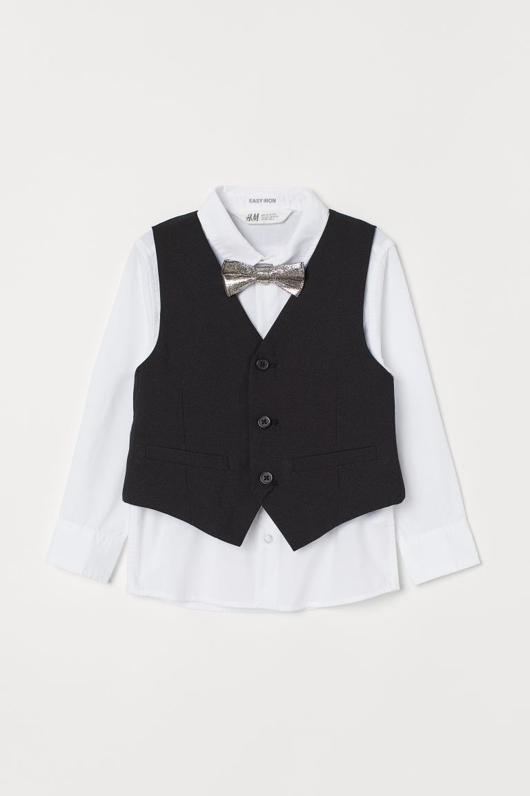 Easy-iron Shirt with Vest