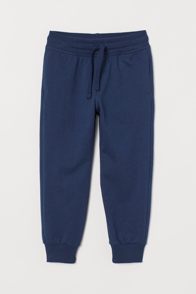 Cotton jersey joggers - Dark blue - Kids | H&M GB