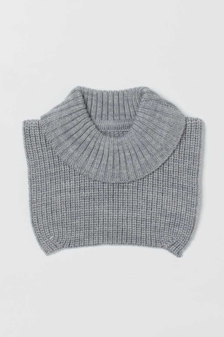 Wool polo-neck collar - Grey marl - Kids | H&M GB