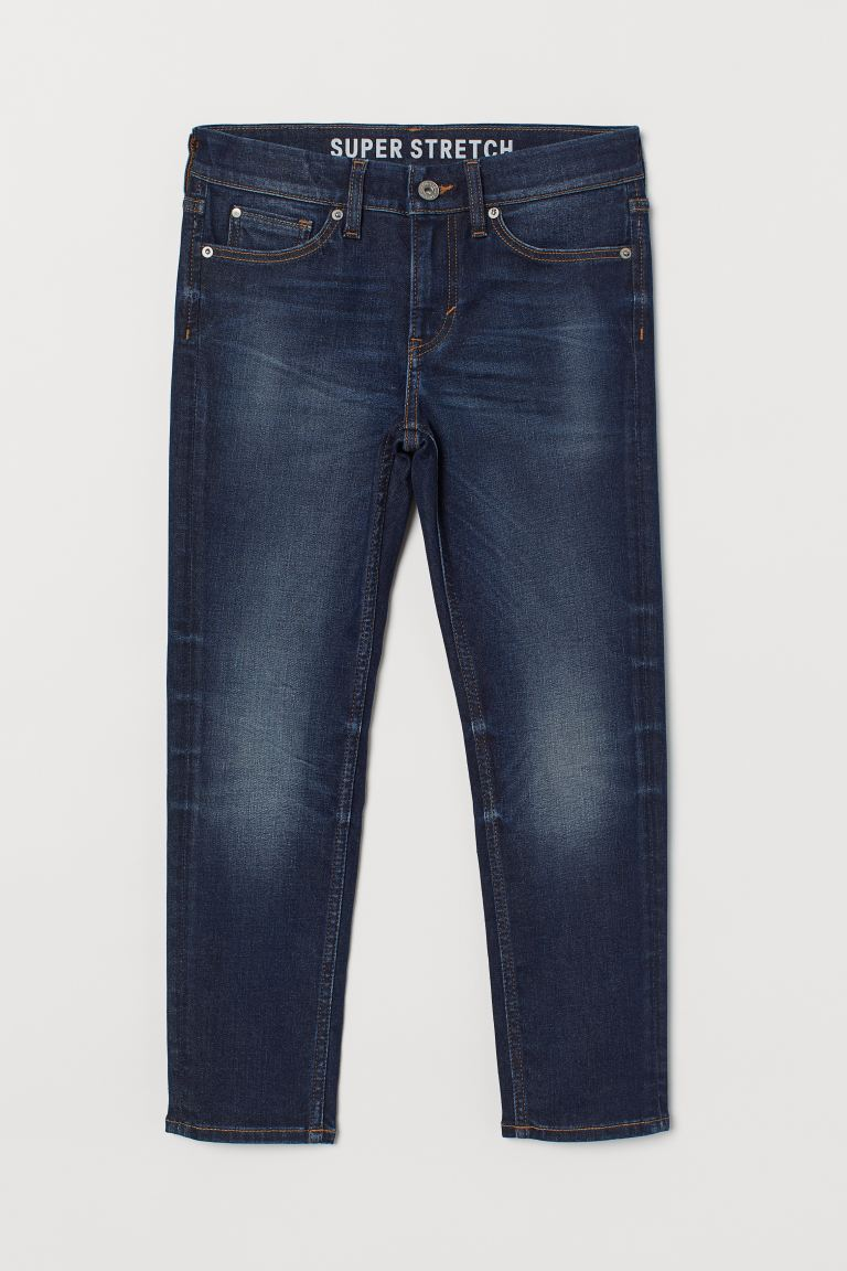 Skinny Fit Generous Size Jeans - Dark denim blue - Kids | H&M GB