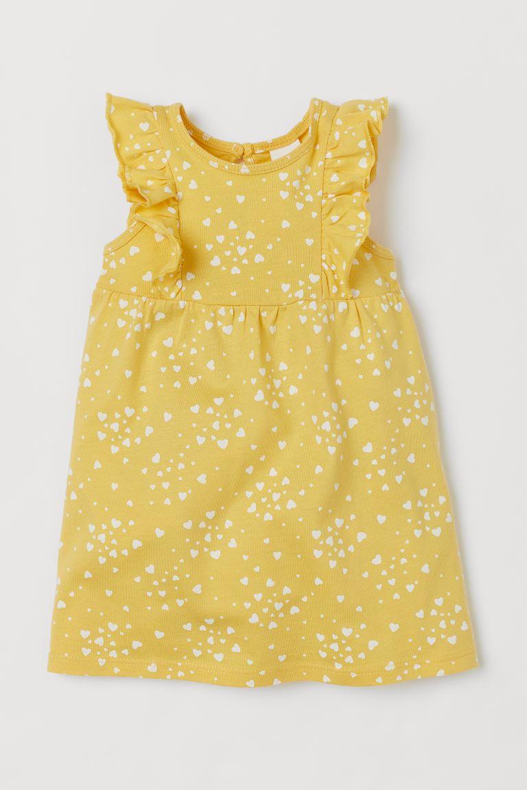 Ruffle-trimmed Jersey Dress