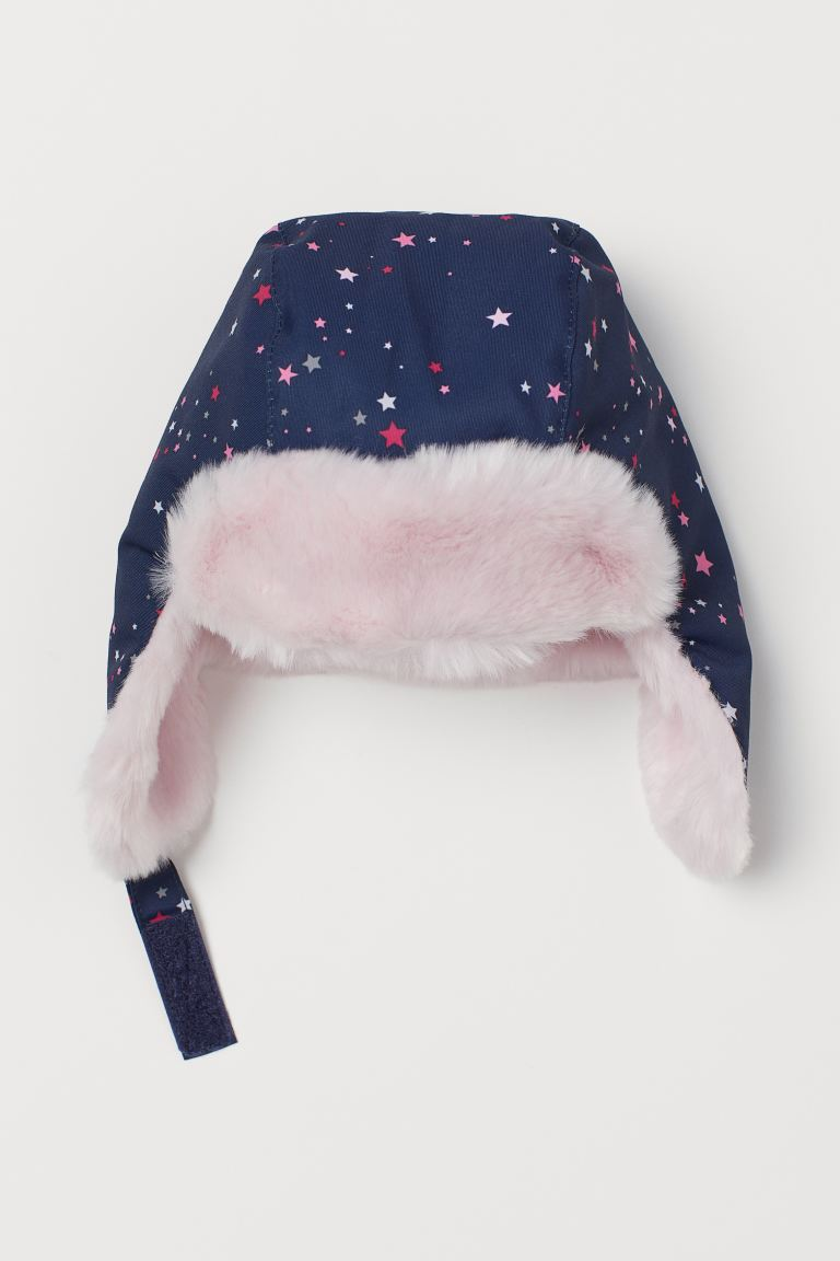 Hat with earflaps - Dark blue/Stars - Kids | H&M GB