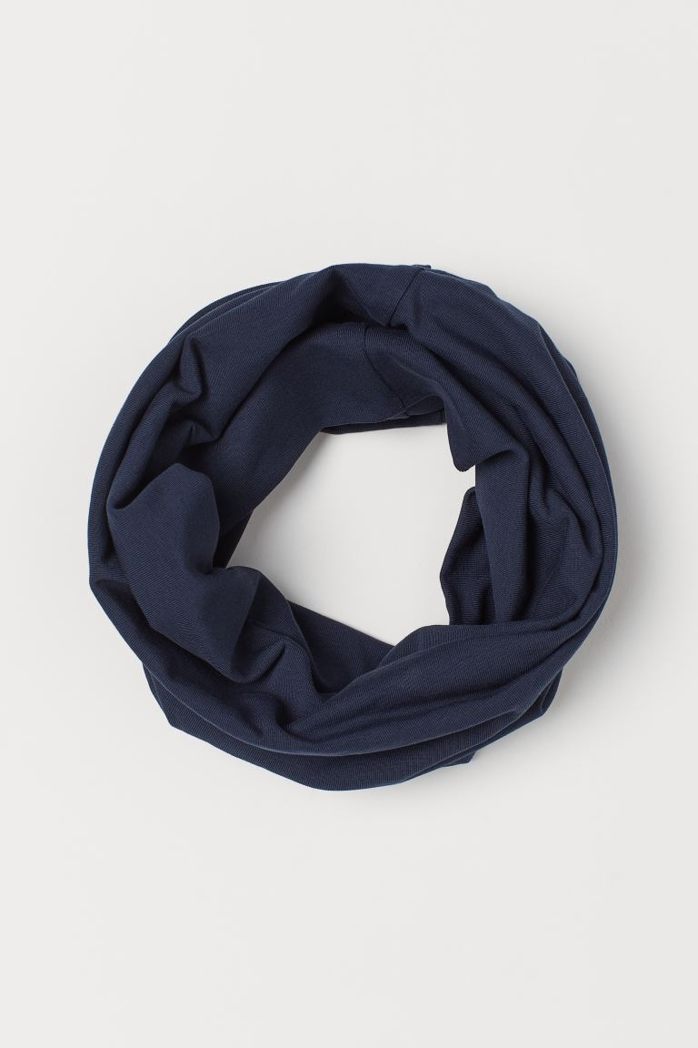 Jersey tube scarf - Dark blue - Kids | H&M GB