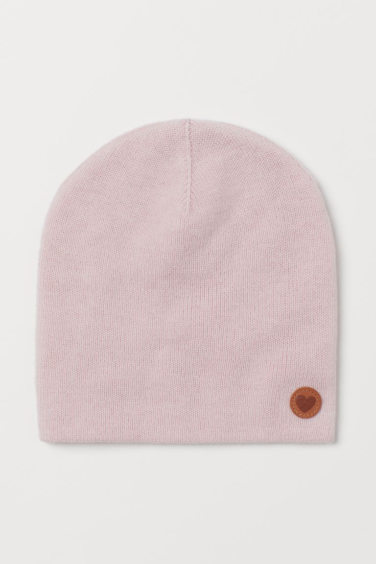 Knitted wool hat - Light pink - Kids | H&M GB