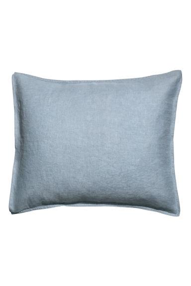 taie d 39 oreiller en lin lav bleu pigeon home all h m fr. Black Bedroom Furniture Sets. Home Design Ideas