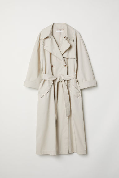 Trenchcoat - Light beige - Ladies | H&M GB 1