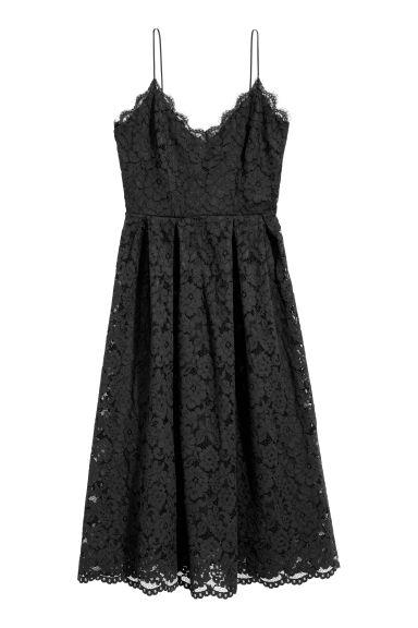 Robe en dentelle - Noir - FEMME | H&M FR 1