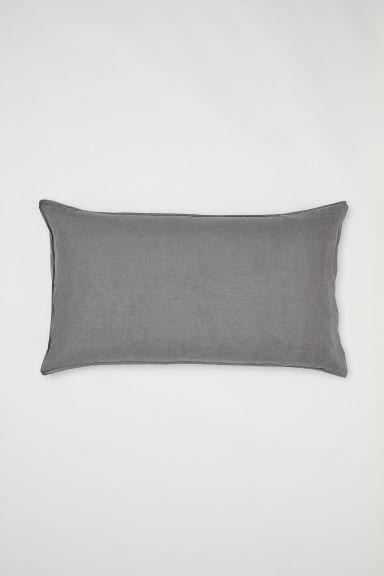 taie d 39 oreiller en lin lav gris home all h m fr. Black Bedroom Furniture Sets. Home Design Ideas