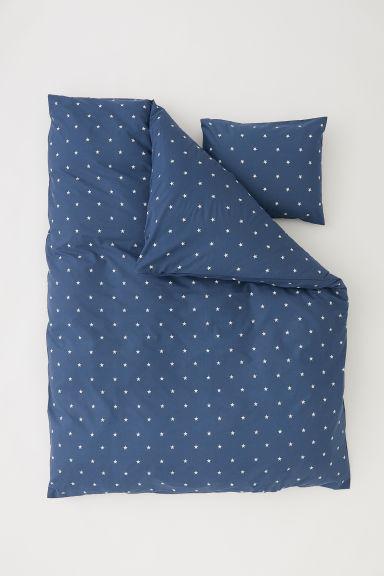 bettw sche mit sternedruck dunkelblau sterne home all h m at. Black Bedroom Furniture Sets. Home Design Ideas