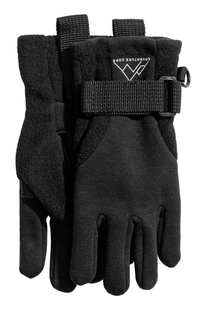 Флисовые перчатки - Черный - Дети | H&M RU 1