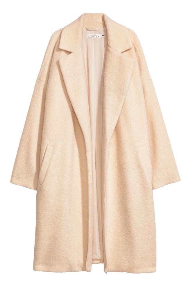 Manteau en laine mélangée - Blanc - FEMME | H&M FR 1