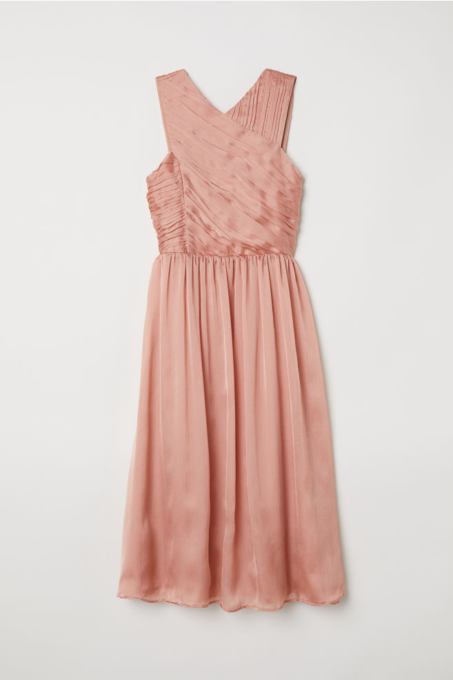 Draped dress - Apricot - Ladies | H&M IN 1