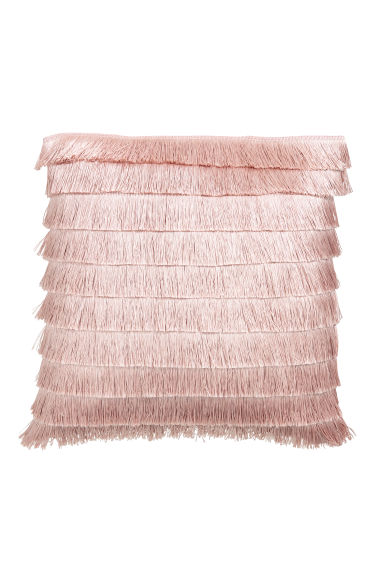 Fringed cushion cover - Light pink - Home All   H&M GB 1