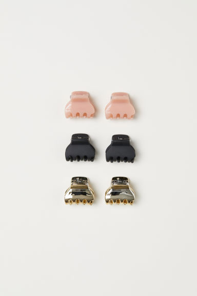 6-pack hair clips - Black/Pink/Gold-coloured - Ladies | H&M CN