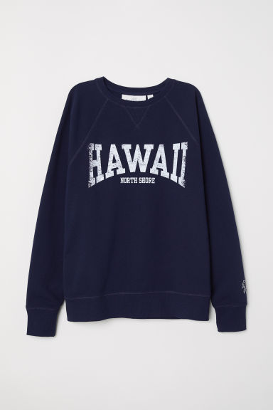 Felpa con motivo - Blu scuro/Hawaii - DONNA | H&M IT
