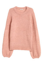 Mohair-blend jumper - Powder pink - Ladies | H&M 2