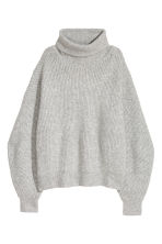 Knitted jumper - Light grey - Ladies | H&M CN 2