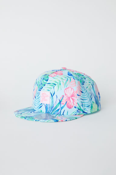 Cap with a motif - Turquoise/Floral - Kids | H&M CN