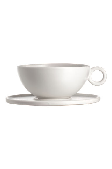 Stoneware cup - White - Home All | H&M IE