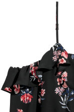 Cold shoulder blouse - Black/Floral - Ladies | H&M CN 3