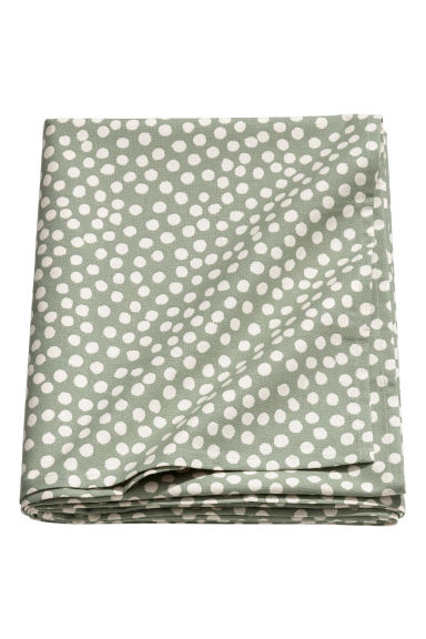 Spotted tablecloth - Light green/White spotted -  | H&M IE