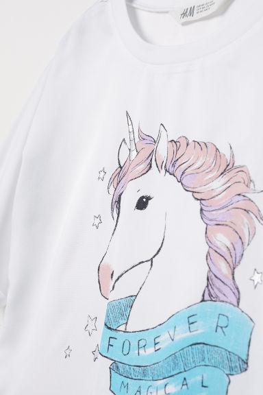 Short top - White/Unicorn - Kids | H&M GB