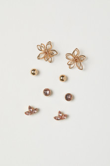4 pairs stud earrings
