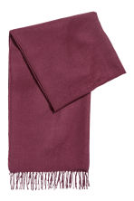 Woven scarf - Dark purple - Ladies | H&M IE 1