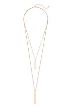 Two-strand necklace - Gold-coloured - Ladies | H&M IE 1