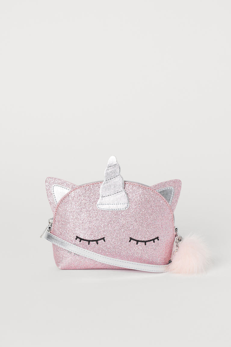 Glittery shoulder bag - Pink/Unicorn - Kids | H&M GB
