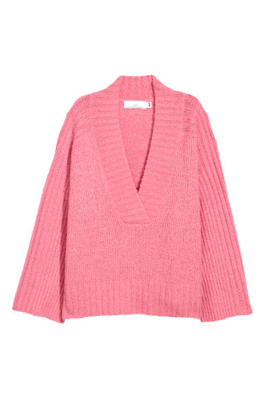 Knitted jumper - Pink -  | H&M GB