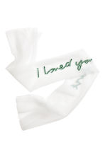 Mesh scarf - White/I loved you first - Ladies | H&M CN 2
